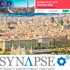 SYNAPSE is a Silver sponsor of the XI edition of the Clinical Trials on Alzheimer's Disease (CTAD)